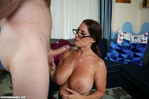 Hot ponytailed milf in glasses and sexy  - Picture 10