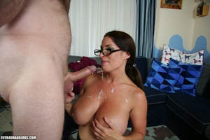 Hot ponytailed milf in glasses and sexy  - Picture 11