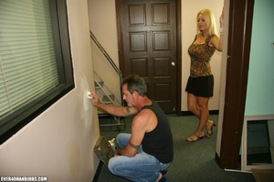 Busty blonde mom seduces an electrician  - XXX Dessert - Picture 1