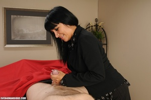 Long-haired brunette gets nude to gives  - XXX Dessert - Picture 3