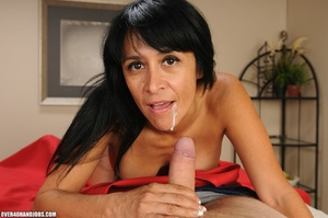 Long-haired brunette gets nude to gives  - XXX Dessert - Picture 11