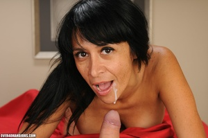 Long-haired brunette gets nude to gives  - XXX Dessert - Picture 12