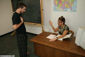 Lustful college teacher in glasses seduc - XXX Dessert - Picture 2
