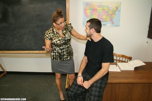 Lustful college teacher in glasses seduc - XXX Dessert - Picture 3