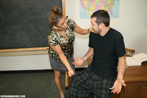 Lustful college teacher in glasses seduc - XXX Dessert - Picture 4