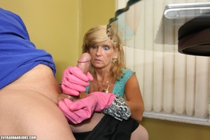 Nasty blonde housewife in a blue blouse  - XXX Dessert - Picture 11