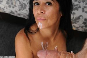 Dirty brunette milf gets mouthful f hot  - XXX Dessert - Picture 11