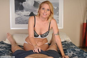 Nasty blonde milf in a funny lingerie sw - XXX Dessert - Picture 1