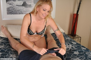 Nasty blonde milf in a funny lingerie sw - XXX Dessert - Picture 3