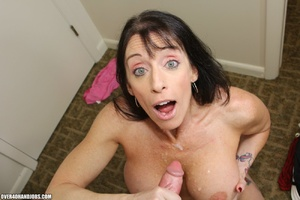 Horny dud with wavy hair cums on brunett - XXX Dessert - Picture 12