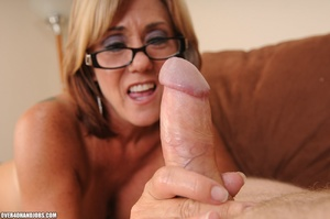 Blonde milf in a black dress and glasses - XXX Dessert - Picture 8
