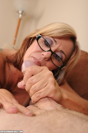 Blonde milf in a black dress and glasses - XXX Dessert - Picture 9
