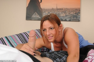 Dirty nurse in a blue suit giving a pass - XXX Dessert - Picture 5