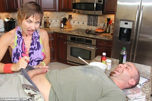 Nasty short-haired mom in a nice top tug - XXX Dessert - Picture 3