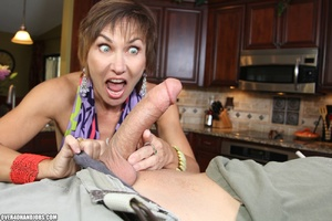 Nasty short-haired mom in a nice top tug - XXX Dessert - Picture 4