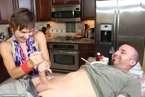 Nasty short-haired mom in a nice top tug - XXX Dessert - Picture 7