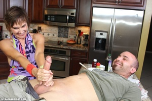 Nasty short-haired mom in a nice top tug - XXX Dessert - Picture 8