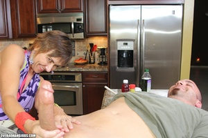 Nasty short-haired mom in a nice top tug - XXX Dessert - Picture 9