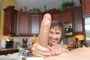 Nasty short-haired mom in a nice top tug - XXX Dessert - Picture 10