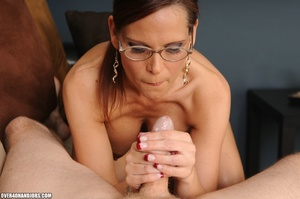 Dirty ponytailed mom in lasses is ready  - XXX Dessert - Picture 4