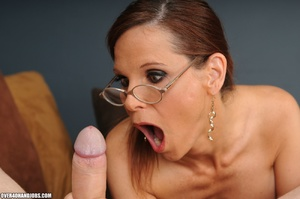 Dirty ponytailed mom in lasses is ready  - XXX Dessert - Picture 7