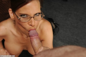 Dirty ponytailed mom in lasses is ready  - XXX Dessert - Picture 8