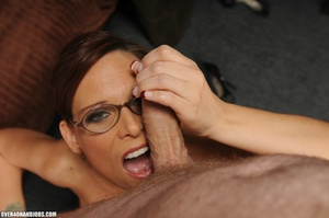 Dirty ponytailed mom in lasses is ready  - XXX Dessert - Picture 9