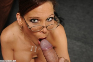 Dirty ponytailed mom in lasses is ready  - XXX Dessert - Picture 10