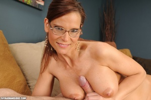 Dirty ponytailed mom in lasses is ready  - XXX Dessert - Picture 12