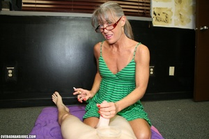 Ponytailed mom in glasses and a green dr - XXX Dessert - Picture 1