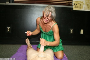 Ponytailed mom in glasses and a green dr - XXX Dessert - Picture 6