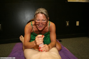 Ponytailed mom in glasses and a green dr - XXX Dessert - Picture 7