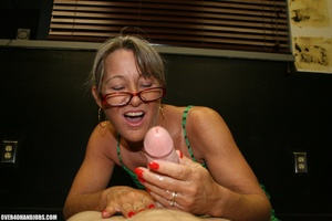 Ponytailed mom in glasses and a green dr - XXX Dessert - Picture 8