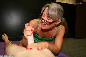 Ponytailed mom in glasses and a green dr - XXX Dessert - Picture 9