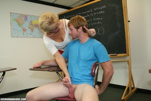 Lustful mature teacher in glasses and a  - XXX Dessert - Picture 7