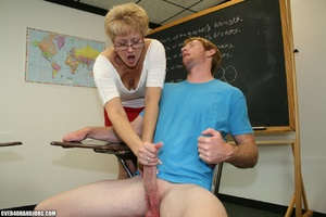 Lustful mature teacher in glasses and a  - XXX Dessert - Picture 8