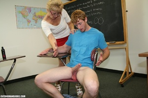 Lustful mature teacher in glasses and a  - XXX Dessert - Picture 9