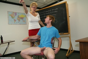 Lustful mature teacher in glasses and a  - XXX Dessert - Picture 10