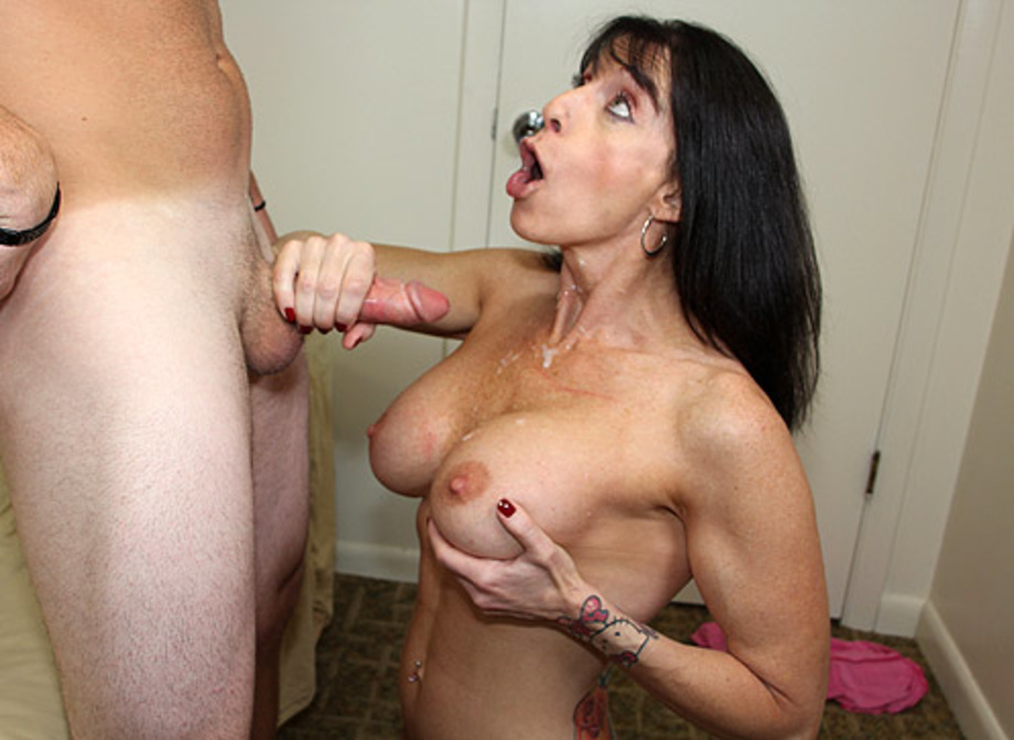 Gf mom giving handjob