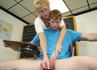 pervert mature blonde teacher
