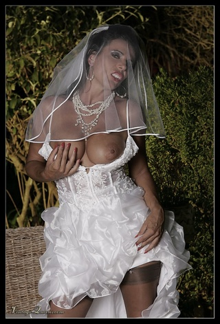 wonderful swarthy bride white
