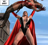 Hot 3d porn comix with sexy chicks fighting half-nude