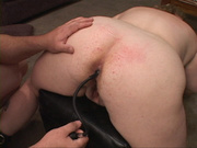 chubby blonde mom cuffs