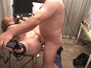 dominated bbw dog-leash and