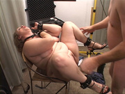 dominated bbw dog-leash and