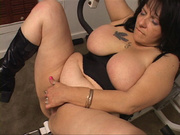 chubby housewife high boots