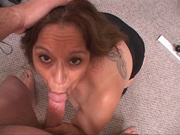 tattooed latina grandmother swallows