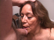 lustful latina granny swallows