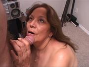lustful latina granny swallows
