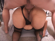 old latina bitch showing